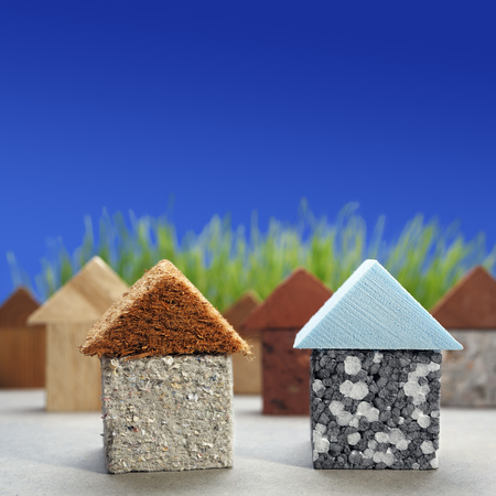 Green building,different natural and synthetic building materials LANG_EVOIMAGES