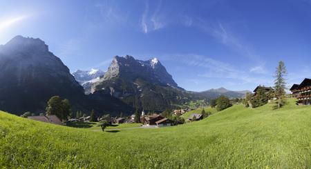 Switzerland,Bernese Oberland,Grindelwald with Eiger mountain