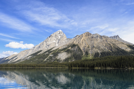 Canada, Alberta, Jasper National Park, Maligne Mountain, Maligne Lake