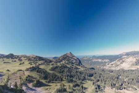 USA, Washington State, View over Mt Rainier National Park