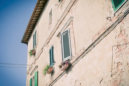 Italy, Tuscany, Val dOrcia, House in Monticchiello LANG_EVOIMAGES