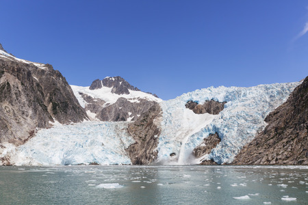 USA, Alaska, Seward, Resurrection Bay, view to glacier LANG_EVOIMAGES