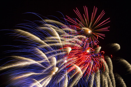 Fireworks in the night sky LANG_EVOIMAGES