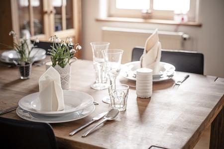 Germany, Vaihingen, Laid table