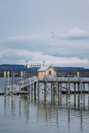 Germany, Baden-Wuerttemberg, Lake Constance, Iznang, Jetty