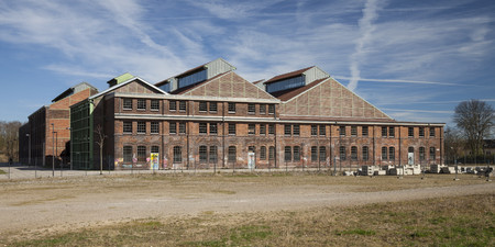 Germany, North Rhine-Westphalia, Dortmund-Hoerde, Phoenix West, Phoenix Park, Industrial hall, Phoenix hall