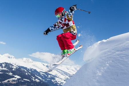 Switzerland, Grisons, Obersaxen, Boy on the slope LANG_EVOIMAGES