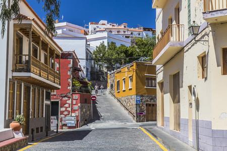 Spain, Canary Islands, Gran Canaria, San Bartolome de Tirajana, houses
