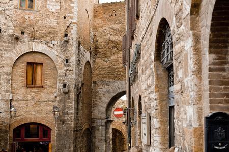 Italy, Tuscany, Volterra, houses