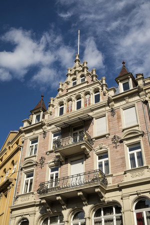 Germany, Baden-Wuerttemberg, Baden-Baden, Old town house in the city center LANG_EVOIMAGES