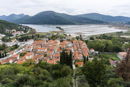 Croatia, Peljesac, Ston, Historic old town and salt mine