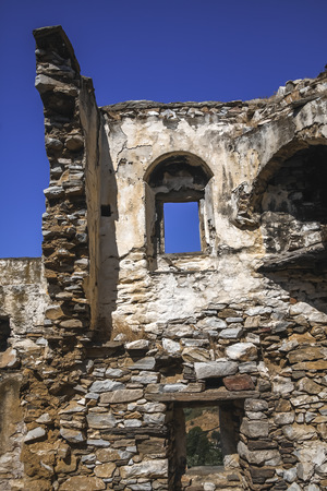 Greece, Cyclades, Naxos, Detail of a ruin