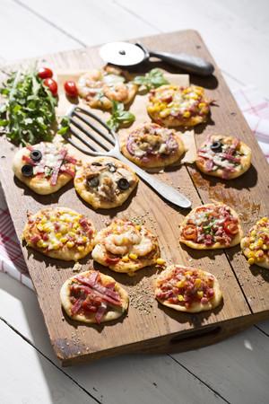 Home made mini pizzas