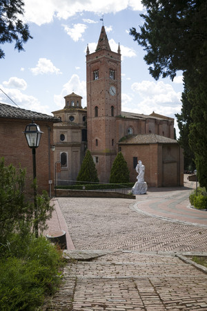 Italy, Tuscany, Abbey of Monte Oliveto Maggiore LANG_EVOIMAGES