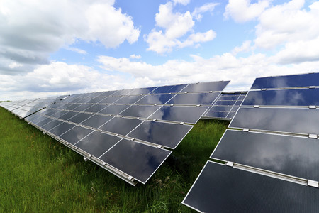 Germany, photoelectric cells of solar power plant LANG_EVOIMAGES