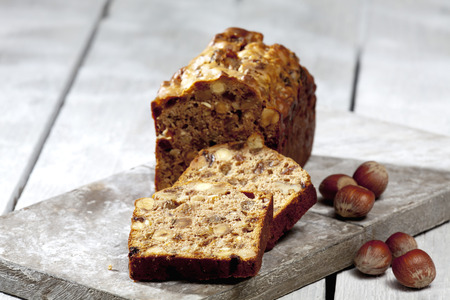 Christmas pastry, Fruit cake with nuts