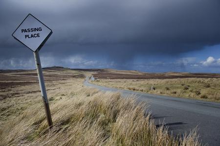 UK, Scotland, Street on Isle of Skye