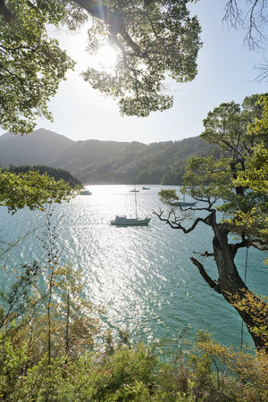 New Zealand, South Island, Marlborough Sounds, Tennyson Inlet, sounds of Duncan Bay LANG_EVOIMAGES