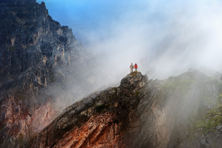 Austria, Salzburg State, Filzmoos, Couple, Two hikers LANG_EVOIMAGES