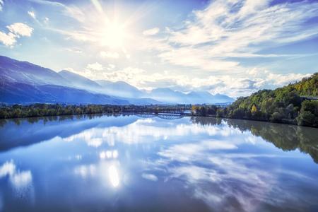 Austria, Carinthia, River Drau Near Hollenburg LANG_EVOIMAGES