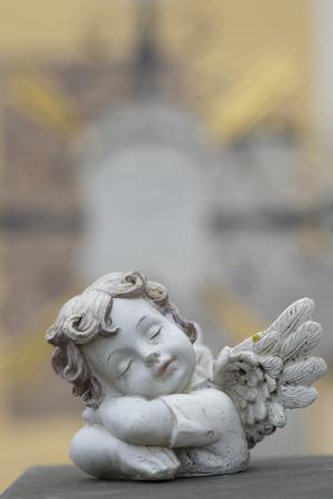 Germany, Bavaria, Ruhpolding, Grave Yard, Angel Figurine LANG_EVOIMAGES