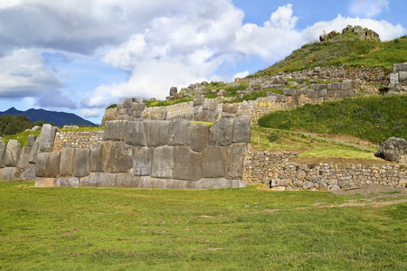 South Amercia, View Of The Ruins Of Saksaywaman In Cusco LANG_EVOIMAGES