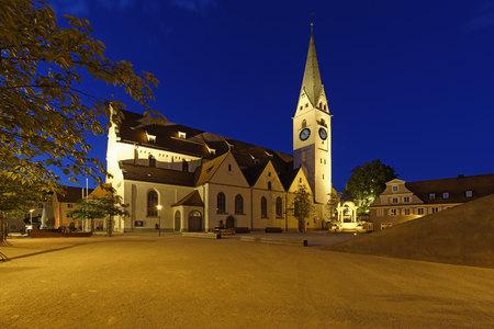 Germany, Bavaria, Swabia, Allgaeu, Kempten, Protestant Parish Church Saint Mang LANG_EVOIMAGES