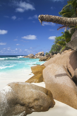 Seychelles, View Of The Anse Cocos Beach At La Digue Island