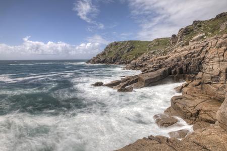 United Kingdom, England, Cornwall, Bay Of Porthcurno LANG_EVOIMAGES