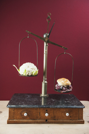 Cauliflower And Bacon Bread Roll On Balance Beam LANG_EVOIMAGES