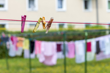 Austria, Clothesline With Clothes Pegs
