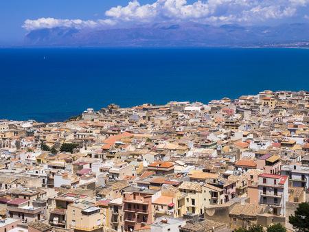 Italy, Sicily, Townscape Of Castellammare Del Golfo