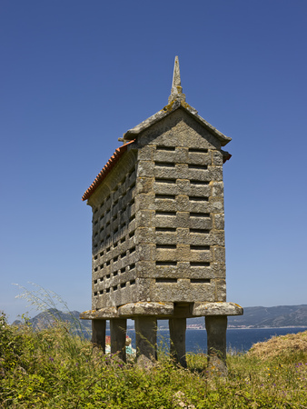 Spain, Galicia, Porto Do Son, Traditional Storage For Crop LANG_EVOIMAGES