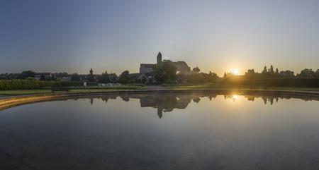 Germany, Saxony-Anhalt, Quedlinburg, Quedlinburg Abbey At Sunset LANG_EVOIMAGES