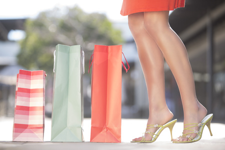 Young Woman On A Shopping Spree LANG_EVOIMAGES