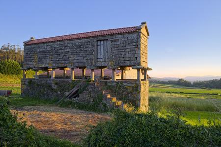 Spain, Galicia, Leis De Nemancos, Traditional Storage For Crop