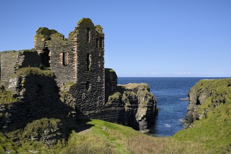 United Kingdom, Scotland, Wick, Northeast Coast, Ruin Castle Sinclair Girnigoe LANG_EVOIMAGES