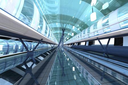 Futuristic Passageway, 3D Rendering