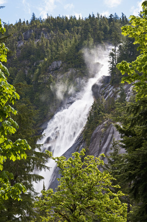 Canada, British Columbia, Squamish, Shannon Falls, Shannon Falls Provincial Park LANG_EVOIMAGES