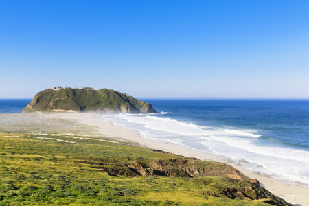 Usa, California, Big Sur, Pacific Coast, National Scenic Byway, Point Sur State Historic Park, View To Point Sur Lighthouse