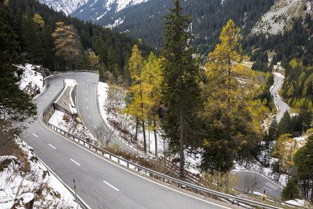 Switzerland, Grisons, Maloja District, Bergell, Maloja Mountain Pass