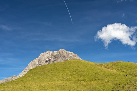Austria, Vorarlberg, Kleinwalsertal, Widderstein Mountain