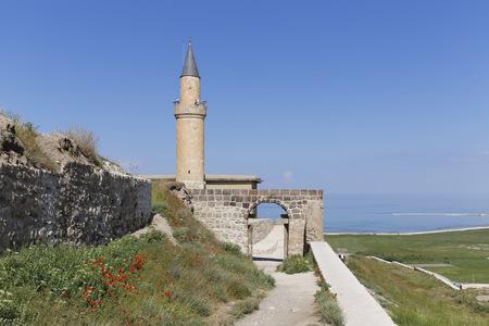 Turkey, Van Province, Van, View To Watchtower And Entrance Of Citadel LANG_EVOIMAGES
