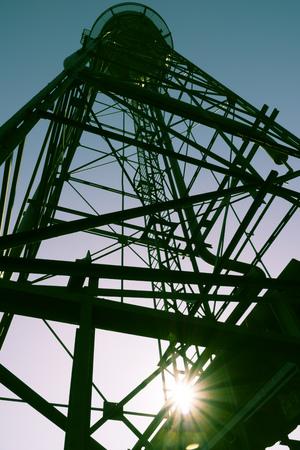 Germany, Dortmund, former steel mill Phoenix West, water tower