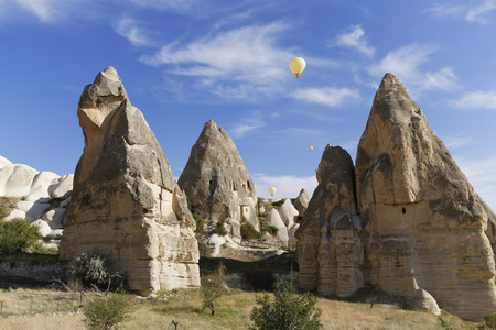 Turkey, Goereme National Park, tuff rock formations in Zemi valley LANG_EVOIMAGES