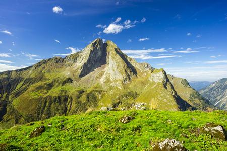 Germany, Bavaria, Allgaeu, Allgaeu Alps, View to mountian Hoefats