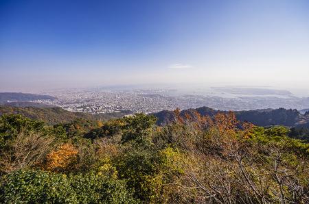 Japan, Kobe, View from Mount Maya