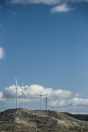 Spain, Castile and Leon, Palencia, wind farm