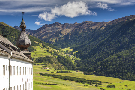 Italy, South Tyrol, Vinschgau, Mals, Benedictine abbey Marienberg LANG_EVOIMAGES
