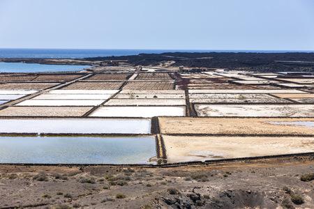 Spain, Canary Islands, Lanzarote, Salinas de Janubio LANG_EVOIMAGES